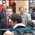 Nathalie Kosciusko-Morizet huée lors de son arrivée à Sciences Po Paris le 5 avril 2012