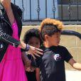 Heidi Klum puise sa bonne humeur auprès de ses enfants. Avril 2012