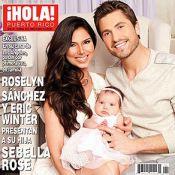 Roselyn Sanchez et Eric Winter, 3 mois après sa naissance, présentent Sebella