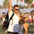 Fergie et Josh Duhamel présents et déjà dans l'ambiance lors du Jour 2 du Festival de Coachella. Indio, le 14 avril 2012.