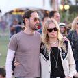 Kate Bosworth et Michael Polish, un joli couple en toute décontraction en ce Jour 2 du Festival de Coachella. Indio, le 14 avril 2012.