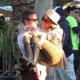 Lauren Conrad et son amoureux Colton Haynes au Festival de Coachella. Indio, le 14 avril 2012.