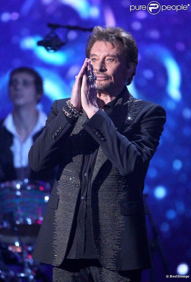Johnny Hallyday sur la scène des NRJ Music Awards 28 janvier 2012