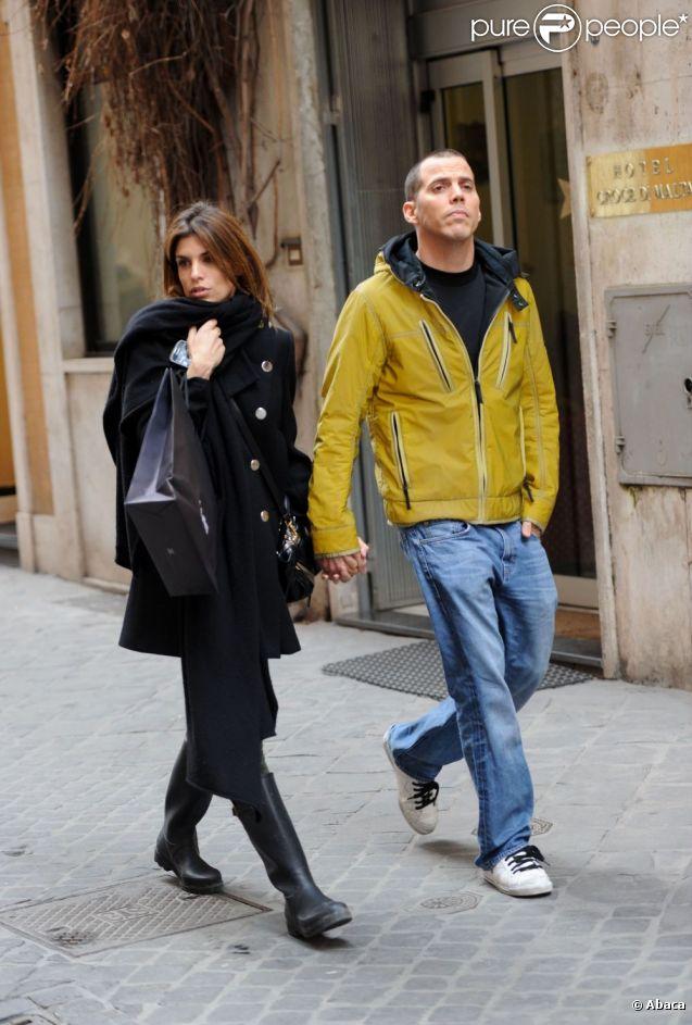 Elisabetta Canalis et Steve-O à Rome le 20 février 2012