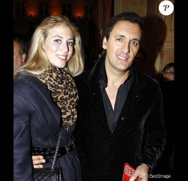 Dany Brillant et sa compagne Nathalie Moury le 12 décembre 2011 à Paris