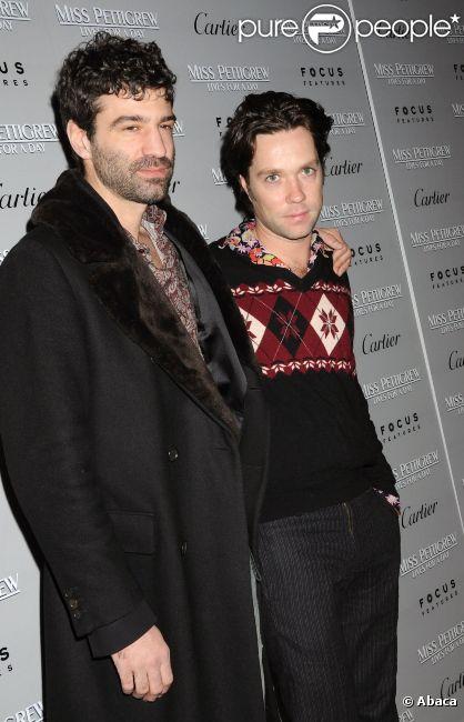 Rufus Wainwright et son compagnon Jorn Weisbrodt, à New York, le 9 mars 2008.