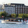 La princesse Mary de Danemark arrive à l'Opéra de Copenhague, le 3 mai 2012, pour inaugurer le Sommet de la mode 2012, dont elle est la marraine.