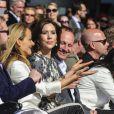 La princesse Mary de Danemark au premier rang du défilé du Sommet de la mode 2012 de Copenhague, dont elle est la marraine, à l'Opéra de Copenhague, le 3 mai 2012.