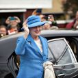 La reine Margrethe II de Danemark inaugurait une exposition à Skagen le 3 mai 2012