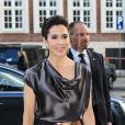 La princesse Mary de Danemark arrive à la Bourse de Copenhague, le 3 mai 2012, pour le dîner de gala du Sommet de la mode 2012, dont elle est la marraine.