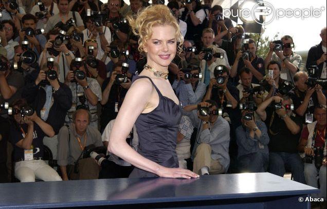 Nicole Kidman lors du festival de Cannes 2003 pour le photocall de Dogville