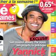 Yannick Noah en couverture de  Télé 2 Semaines , en kiosques le 14 mai 2012.