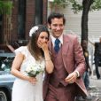 Mila Kunis et Clive Owen se marient pour le tournage de  Blood Ties  de Guillaume Canet, à New York le 14 mai 2012.