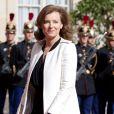 Valérie Trierweiler arrive à l'Elysée, le jour de la passation de pouvoir, à Paris, le 15 mai 2012.