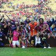 L'équipe de Lyon lors de la finale de la Ligue des Champions féminines remportée par l'équipe à Munich le 17 mai 2012 face à Francfort (2-0)