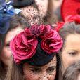 Pippa Middleton au mariage de son amie Camilla Hook avec Sam Holland, petit-fils du réalisateur oscarisé Lord Richard Attenborough, le 19 mai 2012 à Aberlady, près d'Edimbourg (Ecosse).