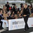 Albert de Monaco et Charlene Wittstock lors du Amber Lounge Fashion Show à l'hôtel Le Médirien à Monaco le 25 mai 2012
