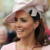 Kate Middleton ressort à Buckingham sa robe Emilia Wickstead, onze jours après