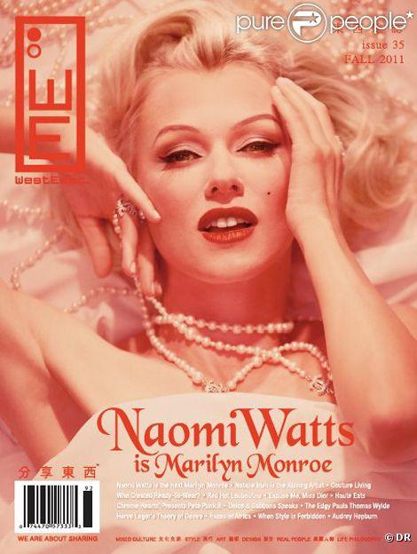 Naomi Watts en couverture de  WeastEast Magazine  à l'automne 2011.