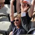Michèle Laroque et François Baroin à Roland-Garros, le 2 juin 2012.