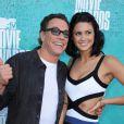 Jean-Claude Van Damme et sa fille Bianca assistent à la soirée des MTV Movie Awards 2012, à Universal City (Los Angeles), le dimanche 3 juin 2012.