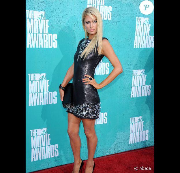 Paris Hilton assiste à la soirée des MTV Movie Awards 2012, à Universal City (Los Angeles), le dimanche 3 juin 2012.