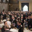 Réception au Westminster Hall de Londres, présidée par le prince William et la duchesse Catherine (Kate Middleton), à l'issue de la messe célébrée en la cathédrale Saint-Paul pour le jubilé de diamant de la reine Elizabeth II, le 5 juin 2012.