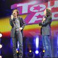 Arnaud Tsamère et Jérémy Ferrari lors de la générale du spectacle On n'demande qu'à en rire au Casino de Paris le 6 juin 2012
