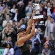 Maria Sharapova était extrêmement émue lors de son triomphe à Roland-Garros, le 9 juin 2012