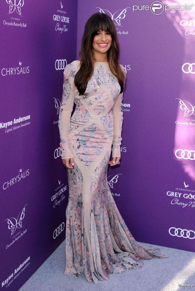 Lea Michele, habillée d'une robe Emilio Pucci, assiste au Chrysalis Butterfly Ball 2012 à Santa Monica, le 9 mai 2012.