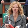 Sandrine Kiberlain lors de la finale de Roland-Garros entre Rafael Nadal et Novak Djokovic le 10 juin 2012 à Paris
