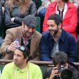 Kad Merad et Manu Payet lors de la finale entre Rafael Nadal et Novak Djokovic à Roland-Garros le 10 juin 2012