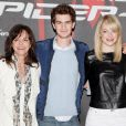 Sally Field, Andrew Garfield et Emma Stone lors du photocall de  The Amazing Spider-Man  à New York, le 9 juin 2012.