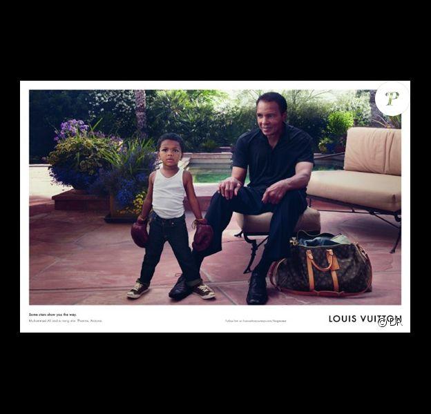 Mohamed Ali et son petit-fils Curtis Mohamed Jr posent pour la campagne Louis Vuitton, Core Values.