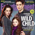 Couverture d'Entertainment Weekly avec Robert Pattinson, Kristen Stewart et Mackenzie Foy pour Twilight - chapitre V : Révélation (partie II)