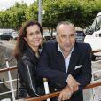 Antoine Dulery et sa femme Pascale Pouzadoux lors de la soirée de La Charcuterie Artisanale sur Seine, à Paris le 11 juin 2012