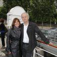 Yann Queffelec et sa femme lors de la soirée de La Charcuterie Artisanale sur Seine, à Paris le 11 juin 2012