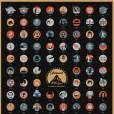 Affiche célébrant les 100 ans de la Paramount