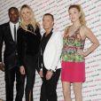 Tyra Banks, Elle Macpherson, Julien MacDonald et la fashinoista Whitney Port lors du lancement de Britain and Ireland's Next Top Model le 19 juin à Londres