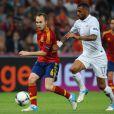 Yann M'Vila lors de la défaite de l'équipe de France lors de l'Euro 2012 en quart de finale face à l'Espagne (2-0) à Donetsk le 23 juin 2012
