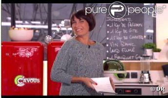 Alessandra Sublet affiche une nouvelle coupe de cheveux trop craquante dans C à vous sur France 5 le lundi 9 janvier 2012
