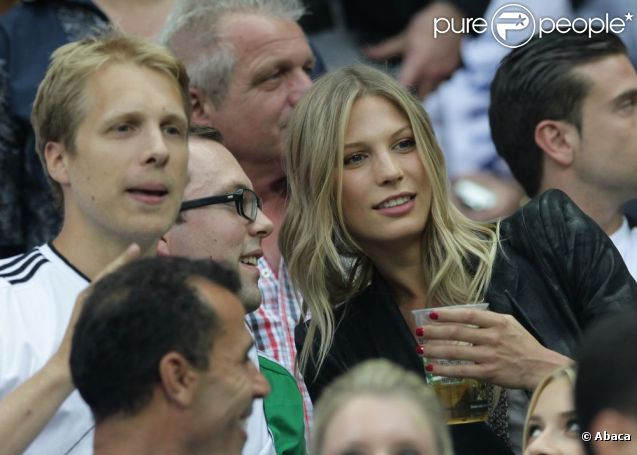 Sarah Brandner durant la demi-finale de l'Euro 2012 perdue par l'Allemagne face à l'Italie, le 28 juin 2012 à Varsovie, en Pologne