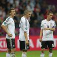 Miroslav Klose, Bastian Schweinsteiger et Philipp Lahm durant la demi-finale de l'Euro 2012 perdue par l'Allemagne face à l'Italie, le 28 juin 2012 à Varsovie, en Pologne