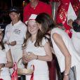 La princesse Alexandra de Hanovre et sa maman la princesse Caroline de Monaco avec les vainqueurs du Pro-Am Cup de Monaco, prestigieuse épreuve du Jumping de Monaco sponsorisée par Jaeger LeCoultre, le 29 juin 2012.