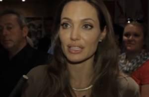 Angelina Jolie : Superbe et très touchée d'être honorée sur la terre de son film