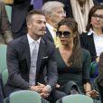 David et Victoria Beckham ont assisté ensemble à la finale de Wimbledon depuis la loge royale, dimanche 8 juillet 2012, encourageant l'Ecossais Andy Murray. En vain...