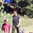 Tom Cruise sur le tournage du film Oblivion en Californie le 10 juillet 2012