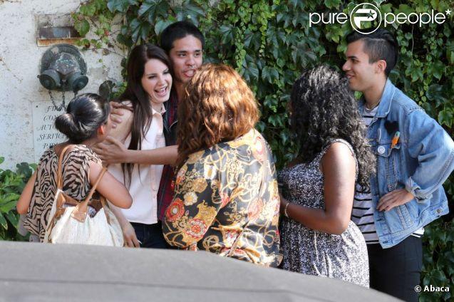 Lana Del Rey devant le Chateau Marmont à Los Angeles, le 11 juillet 2012.