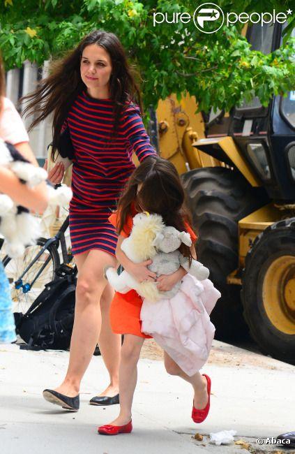 Katie Holmes et la petite Suri à New York, le 14 juillet 2012