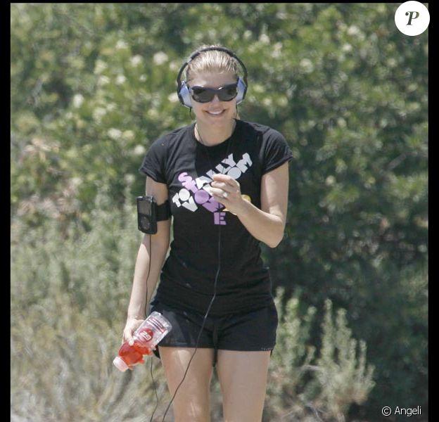 Fergie en plein jogging